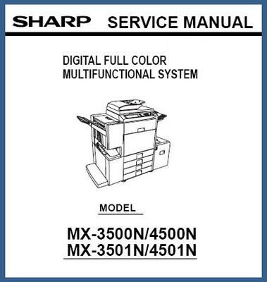 Product picture Sharp MX-3500N-4500N-3501N-4501N Service Manual