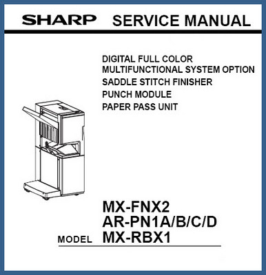 Product picture Sharp MX-FNX2, AR-PN1A/B/C/D, MX-RBX1 Service Manual