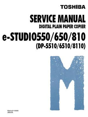 Product picture Toshiba e-studio 550/650/810 Digital Copier Service Manual