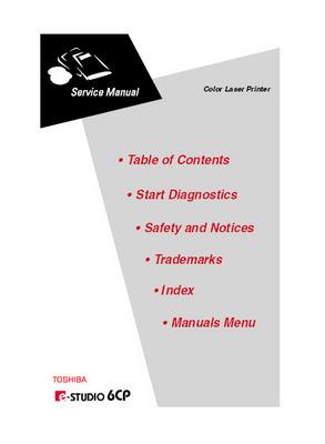 Product picture Toshiba e-Studio 6CP Service Manual