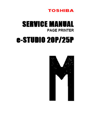 Product picture Toshiba e-Studio 20P/25P Service Manual