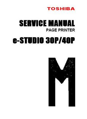 Product picture Toshiba e-Studio 30P/40P Service Manual