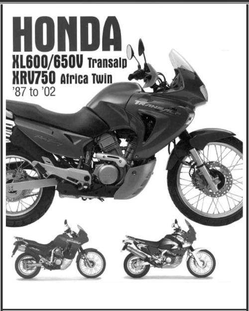 Product picture Honda XL600/650V Transalp XRV750 Africa Twin Service Manual