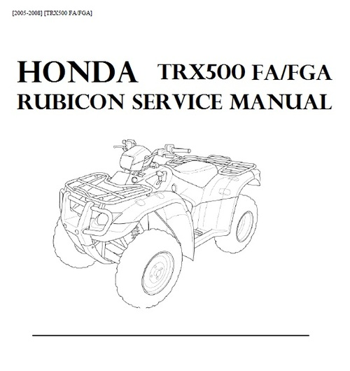 Product picture Honda Trx500 Rubicon 2005-2008 Service Manual